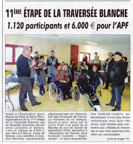 La Depeche  d'Auvergne  La Traversee Blanche  Le 26 Fevrier 2017  002.jpg